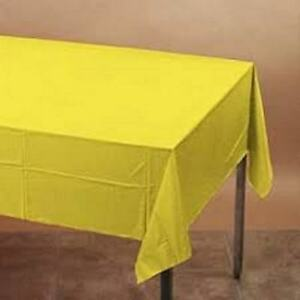 Yellow Plastic Rectangle TABLE CLOTH COVERS - 137cm x 274cm Emma Wiggle Party