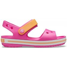 Crocs CROCBAND SANDAL 12856 Girls Croslite Sandals Electric Pink/Cantaloupe