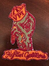 "VT VIRGINIA TECH GOBBLERS HOKIES Vintage  Embroidered Iron On Patch  3.5"" X 3"""