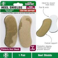 Heel Shields Support Cushion Shoe Stick Sticker Feet Foot Pad Gel Self Adhering