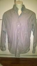BAGUTTA Uomo camicia in cotone 100% Slim Grigio 38-15 34 Moda Made In Italy