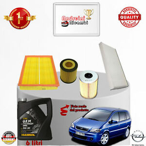 Filtres Kit D'Entretien + Huile Opel Zafira A 2.2 Dti 92KW 125CV Du 2003->2005