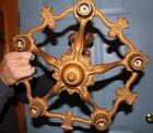 Vintage 1920's Ornate Riddle Cast Chandalier Light Fixture USA, For Restoration