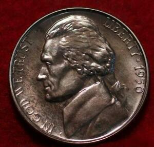 Uncirculated Proof 1950 Philadelphia Mint Jefferson Nickel Not Silver