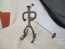 E3 Downhill Skier Metal Bolt Sculpture Figurine