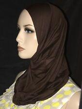 New Brown cotton hijab 1 piece abaya Islam scarf chemo head cover scarf A+