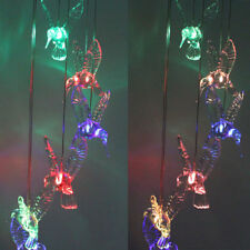 Led Solar Color Changing Hummingbird Wind Chimes Light Lamp Home Garden Decor