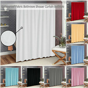 Extra Long & Wide Shower Curtain Waterproof Polyester Fabric Bathroom Curtains