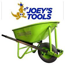 100L extra solid heavy duty builders Wheel Barrow Wheelbarrow 90mm No Flat Tyre