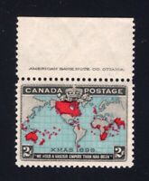 Canada Sc #86b (1898) 2c Deep Blue Imperial Penny Postage IMPRINT VF NH