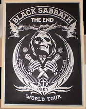 SILVER Black Sabbath The End 2016 World Tour Print Poster Shepard Fairey Signed
