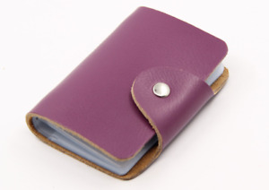 Genuine Leather Credit Card Case Wallet for Mens or Women's 26 Card Slots NEW