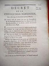 425 LOI&DECRET CONVENTION NATIONALE 1793 LIBERTÉ PRESSE BOUCHES DU RHÔNE LOIRET