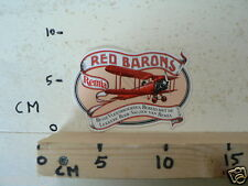 STICKER,DECAL RED BARONS REMIA AIRPLANE DUBBELDEKKER