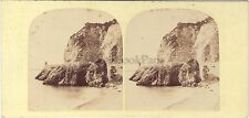 Nice Rochers du Chateau Photo Ferrier ? Stéréo Vintage albumine ca 1855