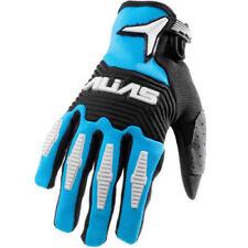 Guanti blu per motociclista catarifrangenti