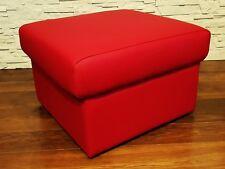 Rot Echt Leder Hocker aufklappbar mit Stauraum Sitzhocker Fußhocker 60x55