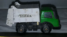 """Vintage Tonka Trash Garbage Dump Truck Green White Pressed Steel JAPAN 3-4"""" Long"""