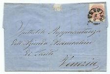 FRANCOBOLLI 1864 LOMBARDO VENETO 5 SOLDI TREVISO 1/1 D/8025