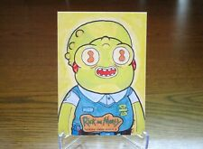 Cryptozoic Rick and Morty Season 3 Diego Mendes Valerio 1/1 Sketch Card Alien