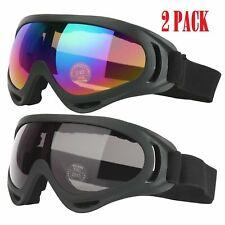 2Jet Ski Goggles Polarized 2 PACK Glasses Motorcycle Boys & Girls Men  Women Ski