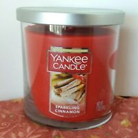 Yankee Candle SPARKLING CINNAMON 7 oz Pillar Jar Burn Time 35 - 55 hrs NEW
