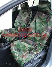 Vauxhall Astra (2004-11) GREEN Camouflage Waterproof Car Seat Covers - Pair
