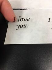 "100 Heart Shaped Clear I Love You Stickers 1 3/8""Labels Wedding Craft ScrapBook"