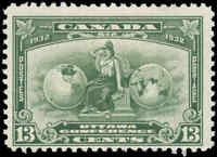 Mint Canada 13c 1932 F+ Scott #194 Economic Conference Issue Never Hinged