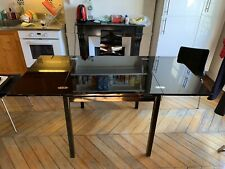 Table Salle à Manger noire extensible 160x80