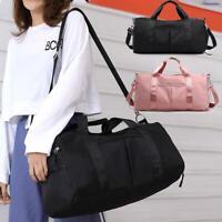 Women Men Travel Sports Gym Shoulder Bag Large Capacity Waterproof Nylon Handbag