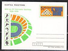Poland 1985 mint post card Sport Totalizator 30th anniver.