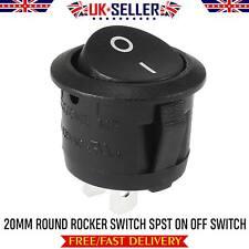 BLACK ROUND ROCKER SWITCH 12v / 24v CAR SPST DASHBOARD KIT CAR ON / OFF LIGHTS