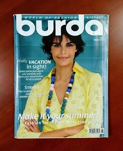 Burda Moden Style Magazine English Supplement Unused Pattern Sheets June 2006