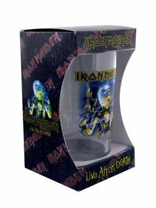 IRON MAIDEN live after death boxed beer glass New