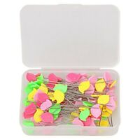 2X(100 Pieces Flat Head Straight Pins, Sewing Pins Quilting Pins for Sewing