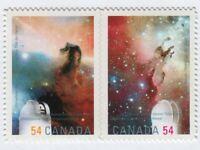 ASTRONOMY EAGLE & HORSEHEAD NEBULA se-tenant pair Canada 2009 #2325i QP DIE CUT