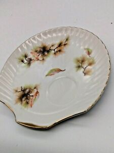 Vintage Lefton China Japan Hand Painted  Clam Shell Tea Serving Plate