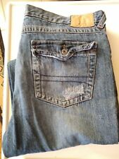 Mens Jeans Size 38/34  Carbon (Rue 21) Distressed Straight Leg
