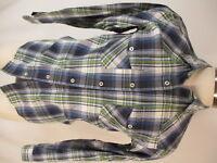 Patagonia Organic Cotton Mens Blue Plaid Long Sleeve Shirt S