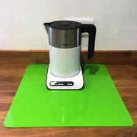 Quadrato Cucina Piano Di Lavoro Savers in Verde Lime Finitura Lucida Acrilico