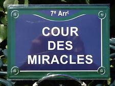PLATE METAL STREET DECORATION 5 7/8x8 5/16in COURT MIRACLES fields elysées paris