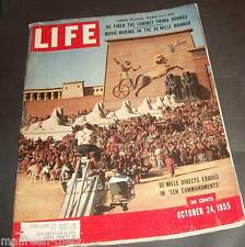 October 24, 1955 LIFE Magazine Truman Giorgione 50s adds ad FREE SHIPPING Oct 10