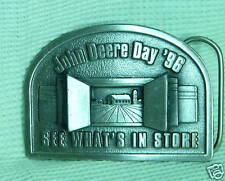 John Deere Day 1996 Pewter Belt Buckle-WHAT'S IN STORE