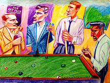 THE RAT PACK PRINT poster frank sinatra dean martin davis lawford pool table cue