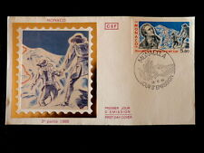 MONACO PREMIER JOUR FDC YVERT  1556     MONT BLANC ,SAUSSURE      5,80F     1986