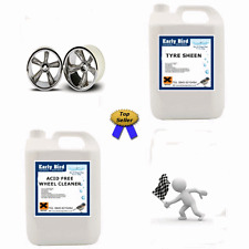 TYRE DRESSING & 5 LTR ALLOY WHEEL CLEANER Big Value Trade Pack 5 Litres of each