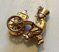 Superb Unusual Full Hallmarked Vintage 9ct Gold Large ICE SELLER Charm Pendant