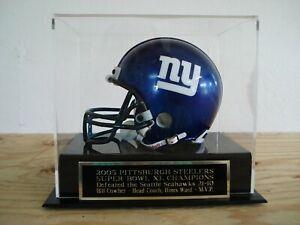 Super Bowl XL Football Mini Helmet Case With A Piitsburgh Steelers Nameplate