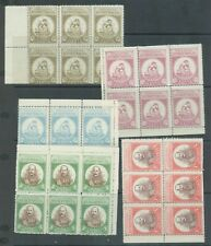 Crete 1905 Revolutionar assembly set of 5 in MNH blocks of 6 gum creases and